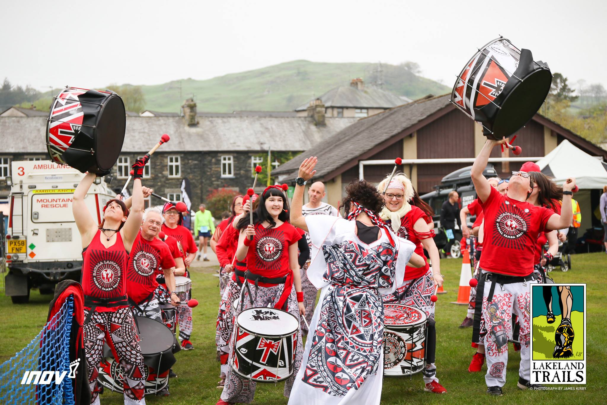 Batala Lancaster drumming band at Lakeland Trails Stavely