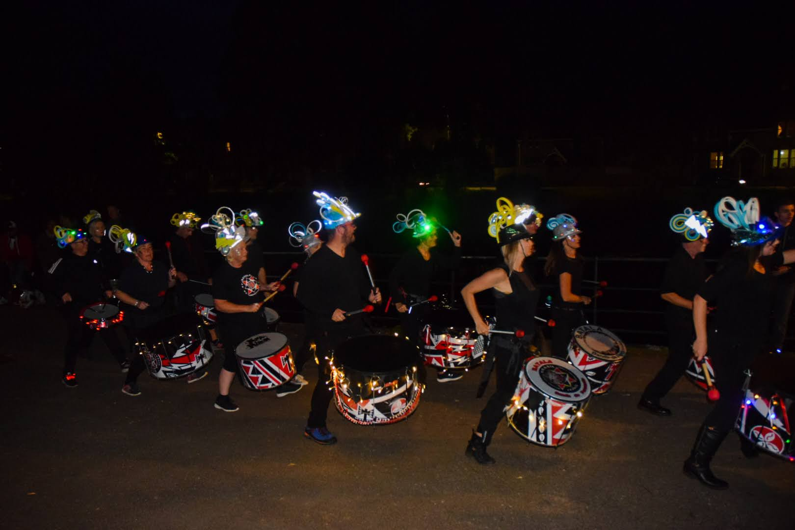 Batala Lancaster night time parade